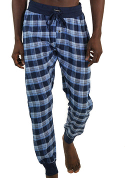 Men's Flannel Jogger Lounge Pants - LT BLUE Sleepwear Pants Members Only LT BLUE SMALL