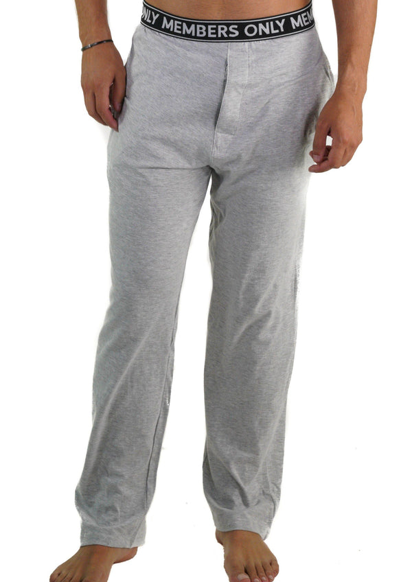 Men's Jersey Sleep Pant Logo Elastic - Grey Sleepwear Pants Members Only GREY SMALL