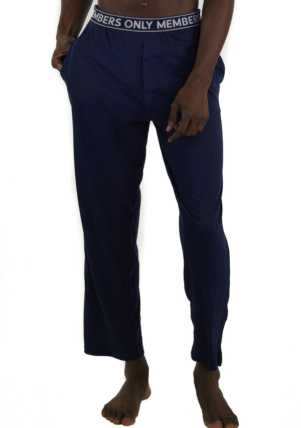 Men's Jersey Sleep Pant Logo Elastic - Navy Sleepwear Pants Members Only NAVY SMALL