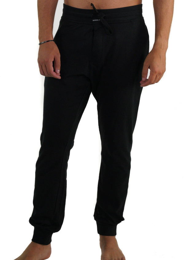 Men's Jersey Jogger Lounge Pants - Black