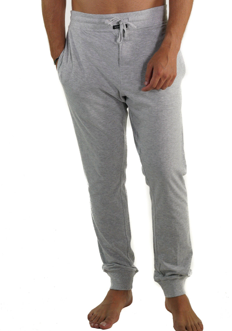 Men's Jersey Jogger Lounge Pants - Grey Sleepwear Pants Members Only GREY SMALL