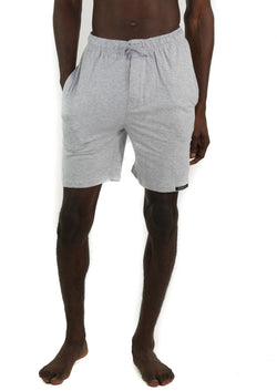 Men's Jersey Sleep Shorts - Grey Sleepwear Pants Members Only Grey SMALL