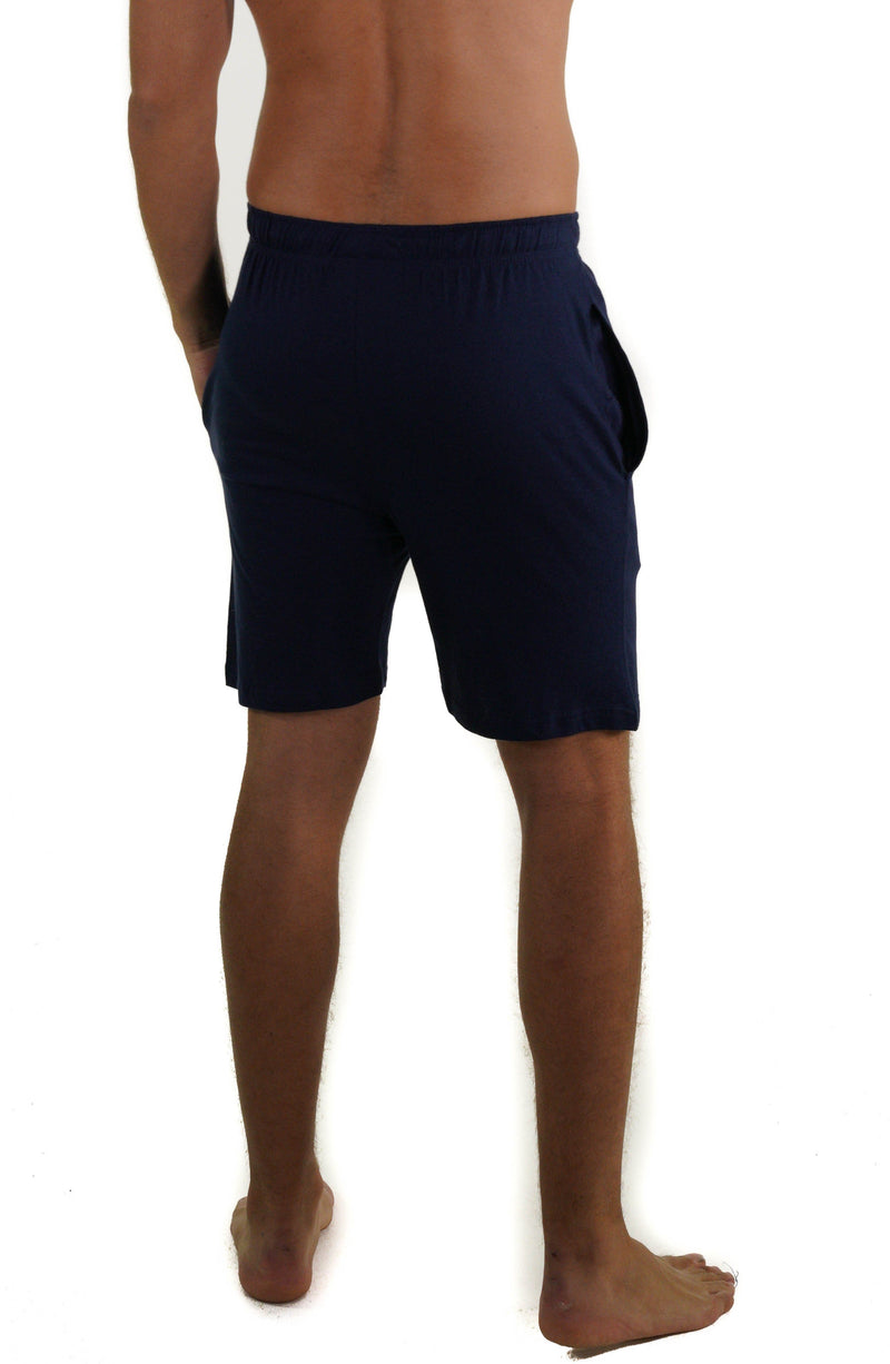 Men's Jersey Sleep Shorts - Navy Sleepwear Pants Members Only