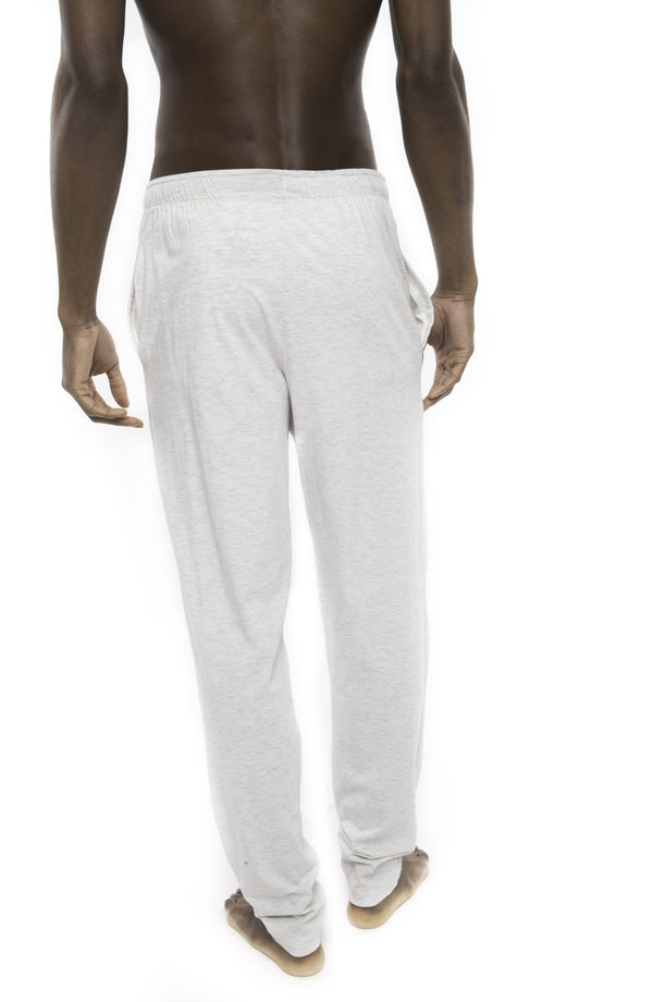 Members Only Heather Contrast Elastic Sleep Pants - GREY BLACK Sleepwear Pants Members Only