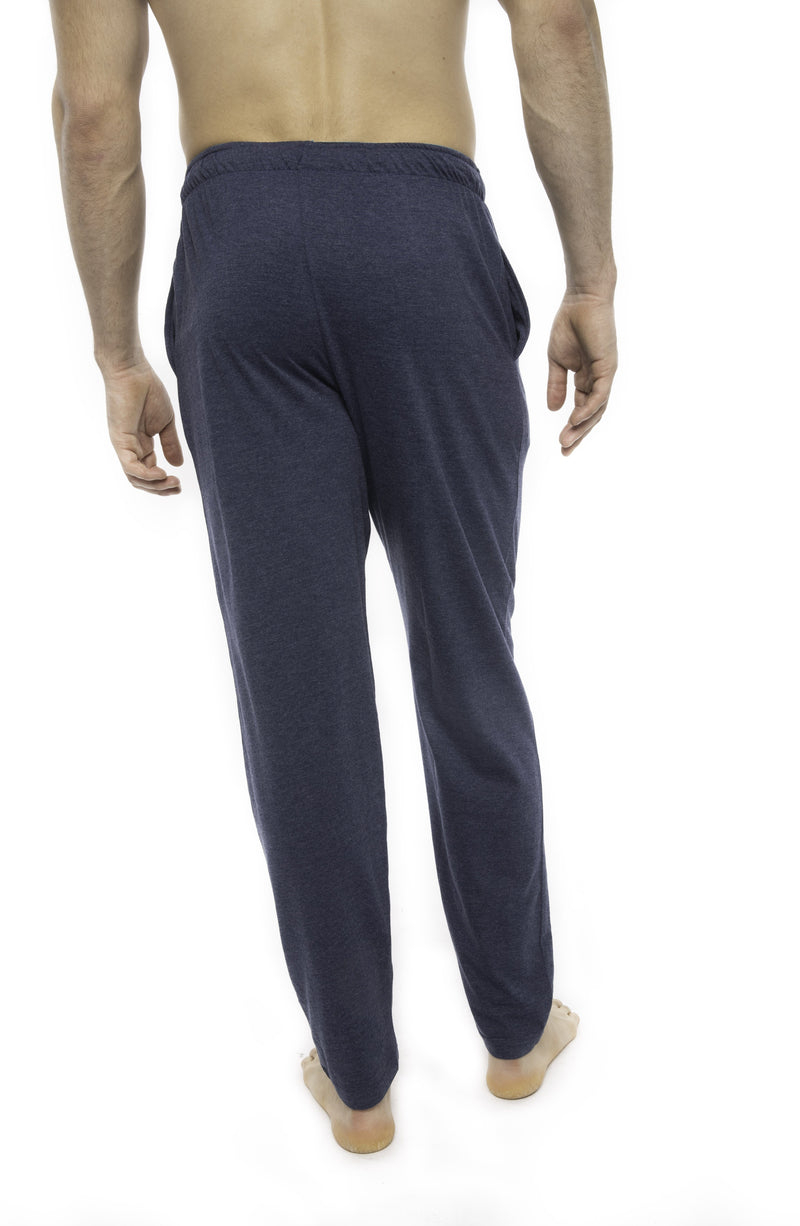 Members Only Heather Contrast Elastic Sleep Pants - BLUE TURQ