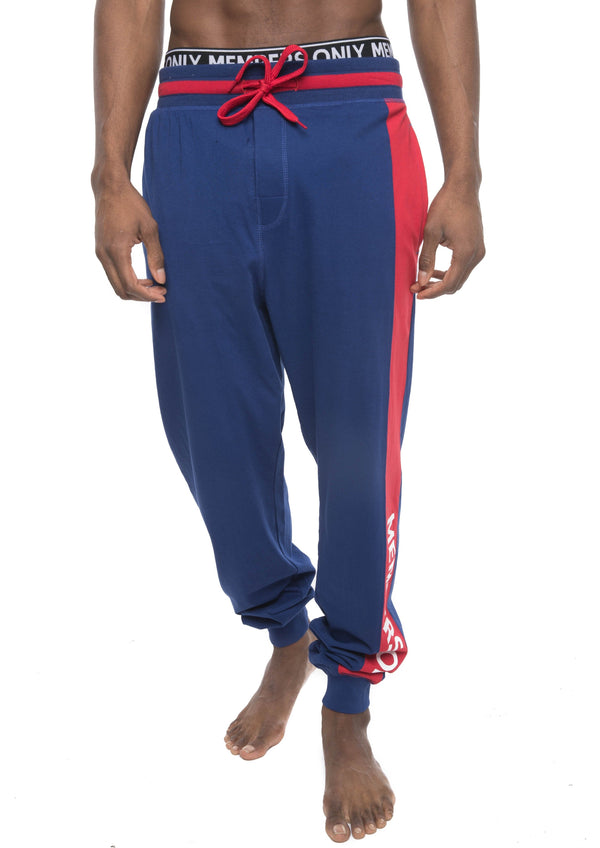 Members Only Logo Leg Jersey Sleep Jogger - ROYAL Sleepwear Pants Members Only ROYAL SMALL