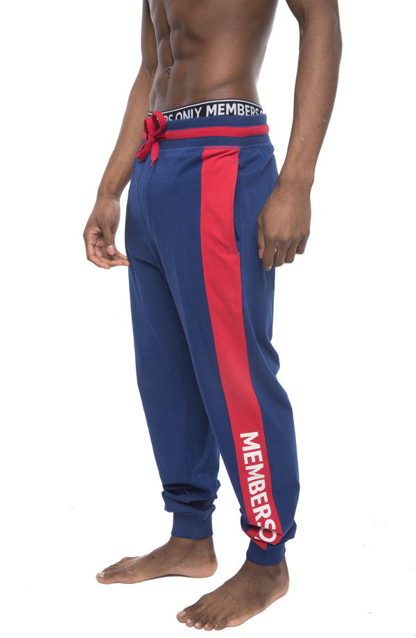 Members Only Logo Leg Jersey Sleep Jogger - ROYAL Sleepwear Pants Members Only