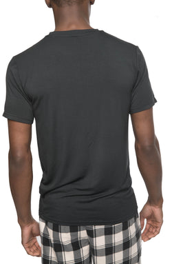 Members Only Short Sleeve Bamboo Rayon Sleep Shirt - BLACK Sleepwear Pants Members Only BLACK SMALL