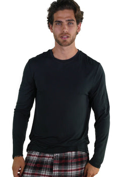 Men's Bamboo Rayon Long Sleeve Knit Sleep Shirt