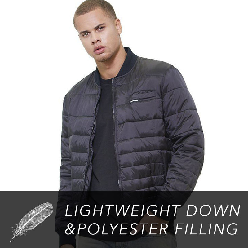 Clearance - Men's Solid Puffer Jacket