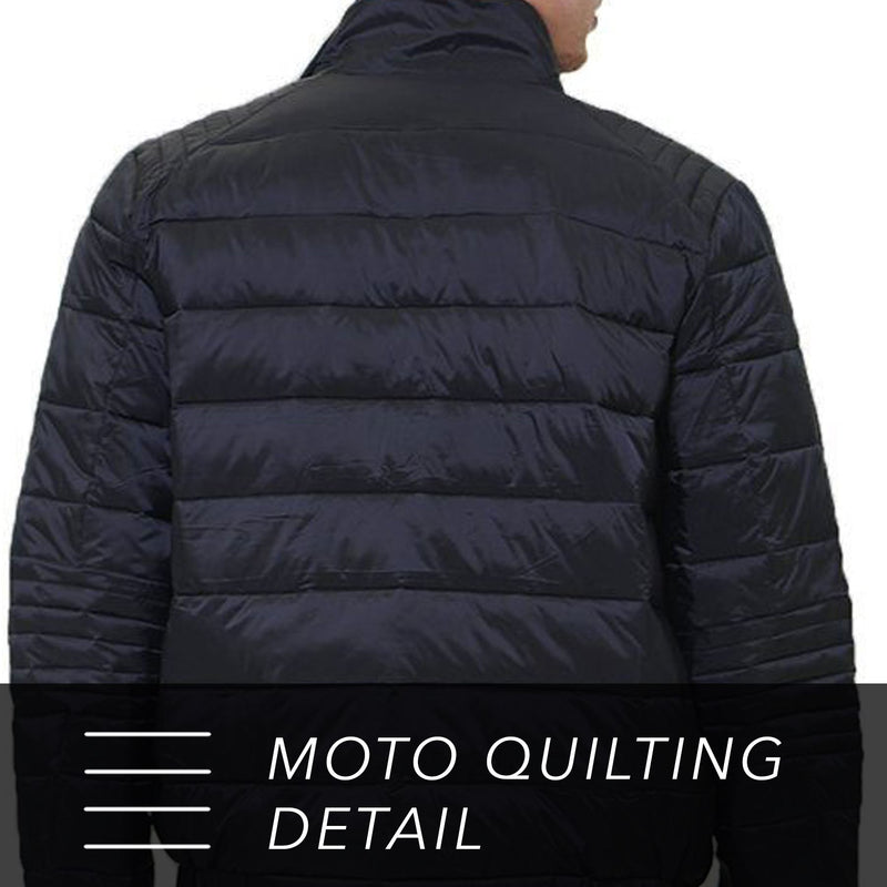 Moto Puffer Jacket for Men