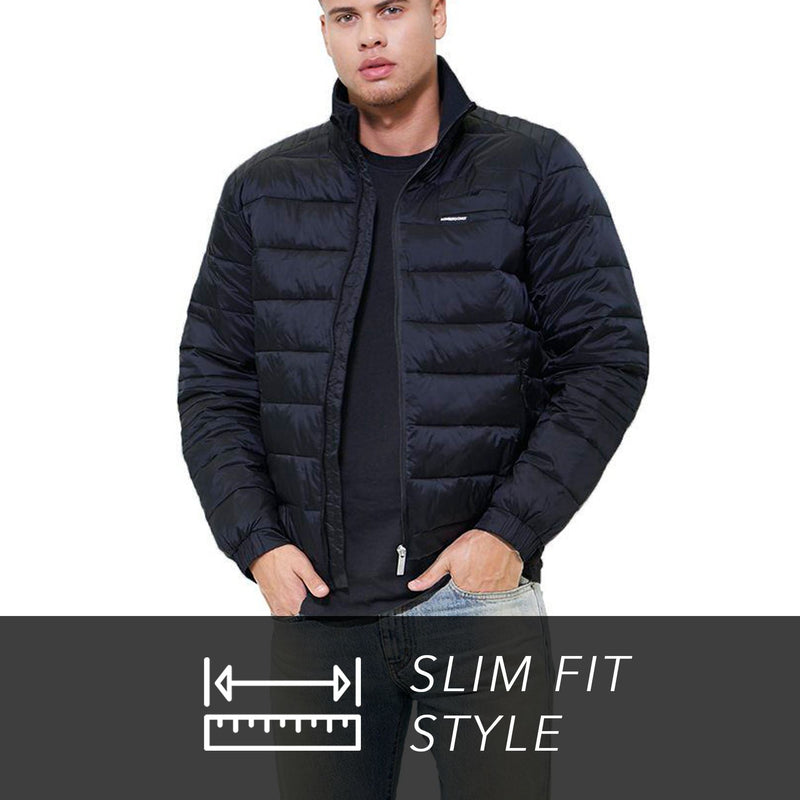 Members Only Men's Moto Puffer Jacket