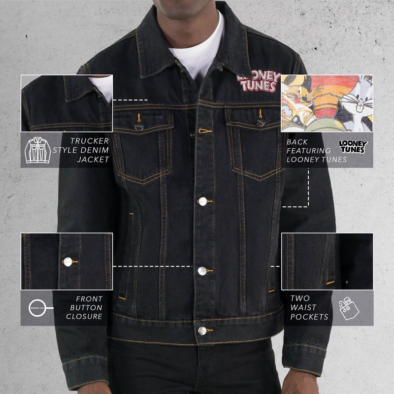 Members Only  Looney Tunes Denim Trucker Jacket for Men