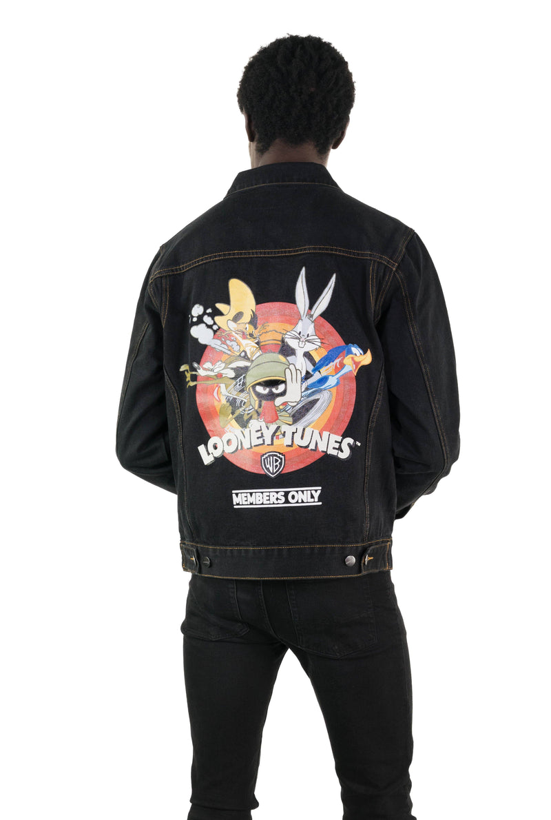 Men's Looney Tunes Denim Trucker Jacket