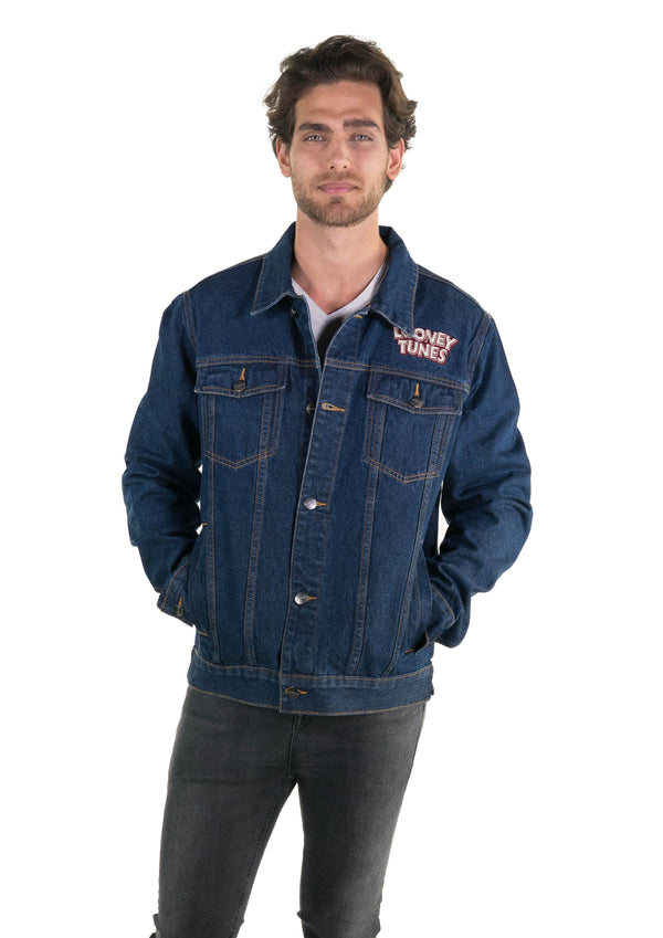 Men's Looney Tunes Denim Trucker Jacket Front