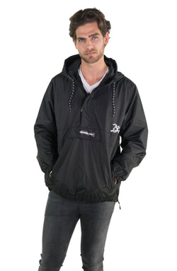 Black Looney Tunes Popover Jacket For Men