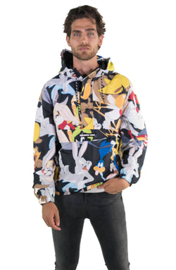 Men's Looney Tunes Print Popover Jacket