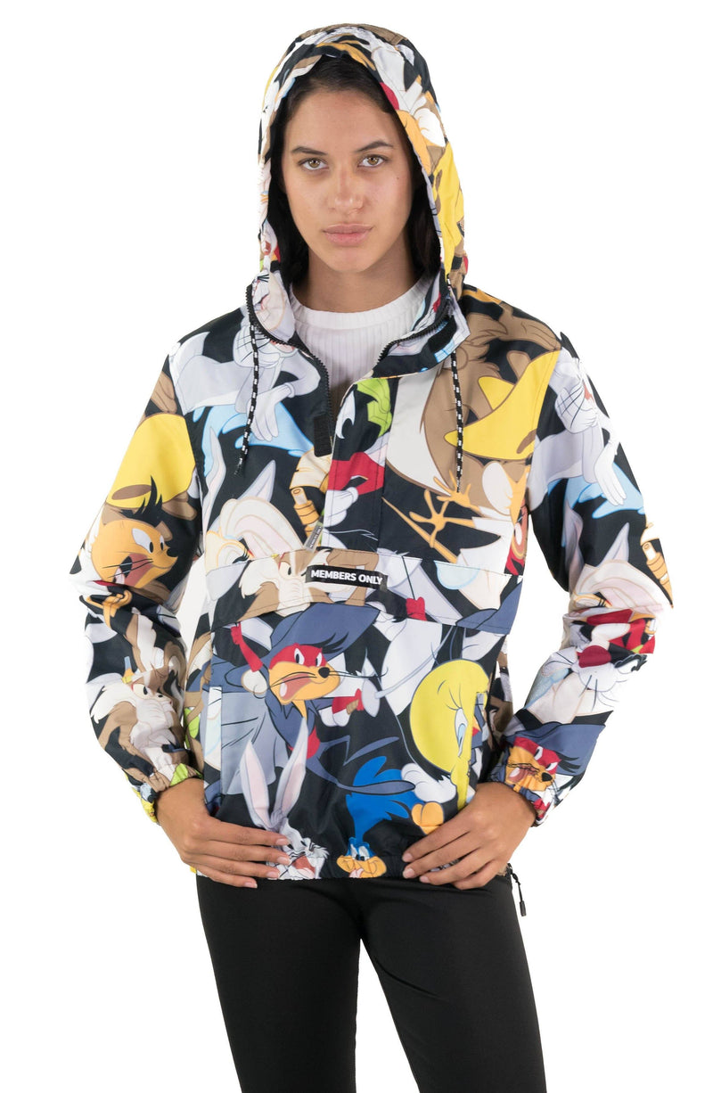 Men's Looney Tunes Print Popover Jacket for Women