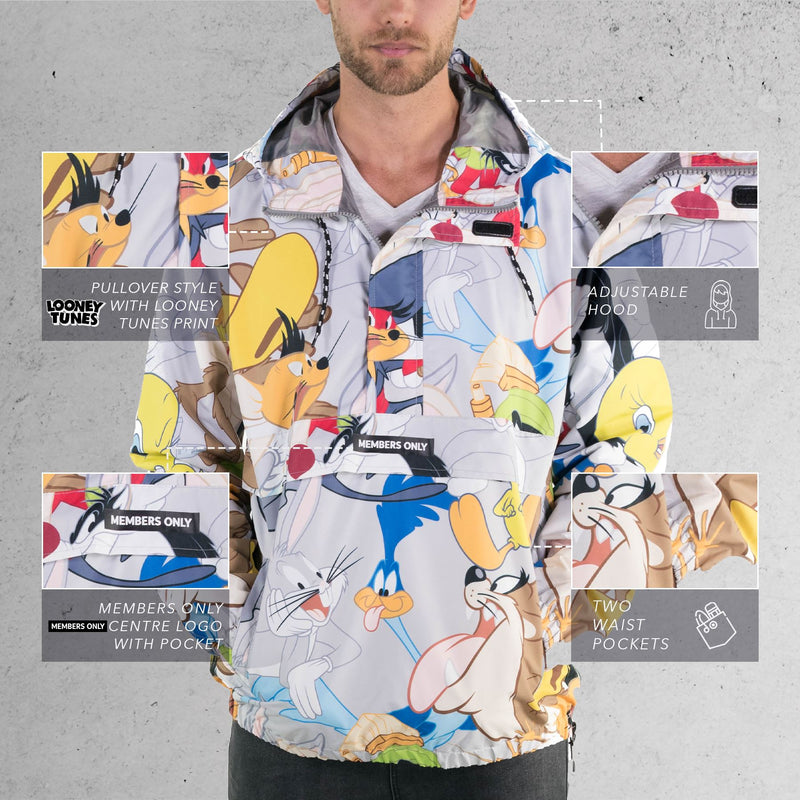 Looney Tunes Print Popover Jacket For men's
