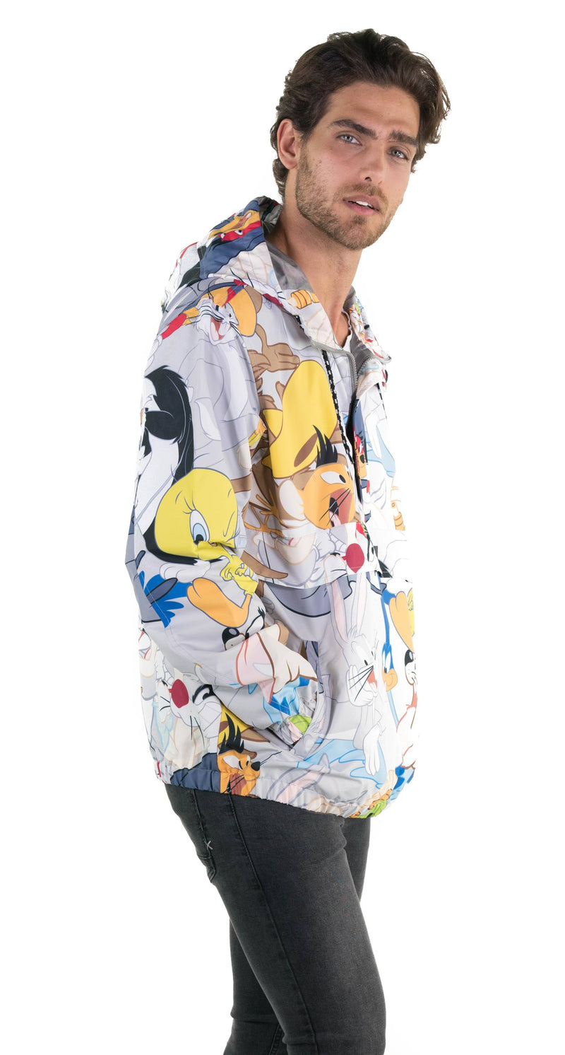 Members Only  Looney Tunes Print Popover Jacket