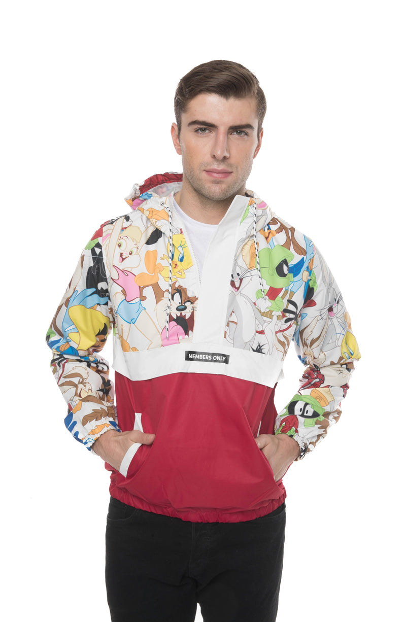 Men's Looney Tunes Collab Popover Jacket Red