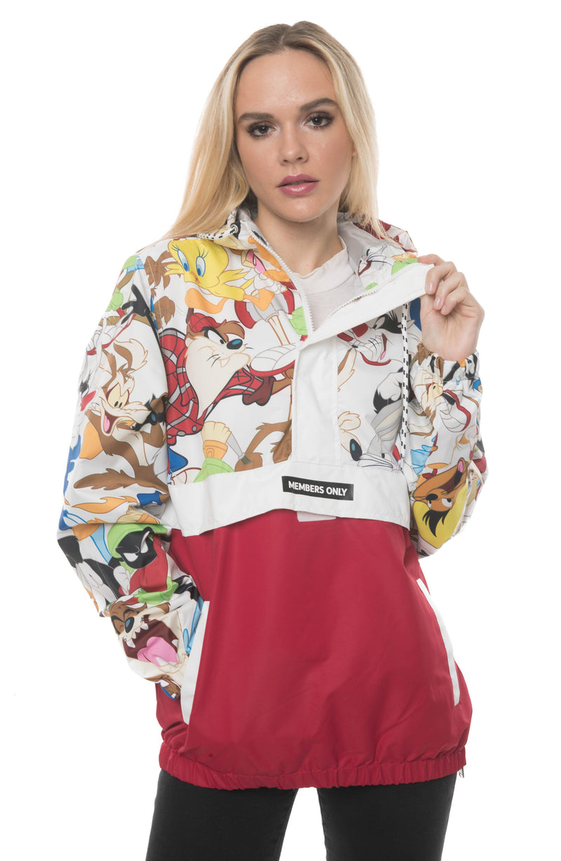 Men's Looney Tunes Collab Popover Jacket For Women