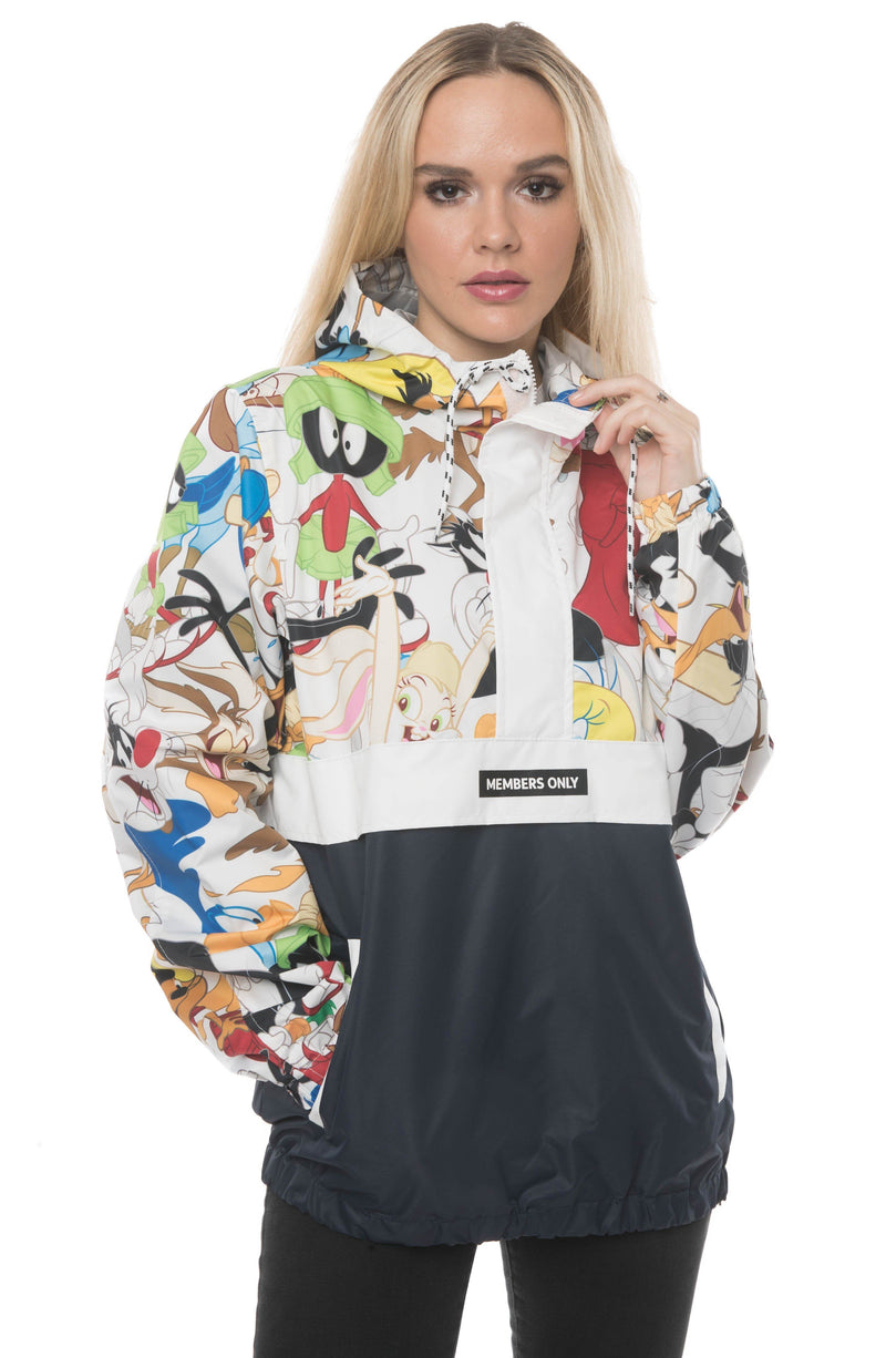 Members Only Men's Looney Tunes Collab Popover Jacket For Women