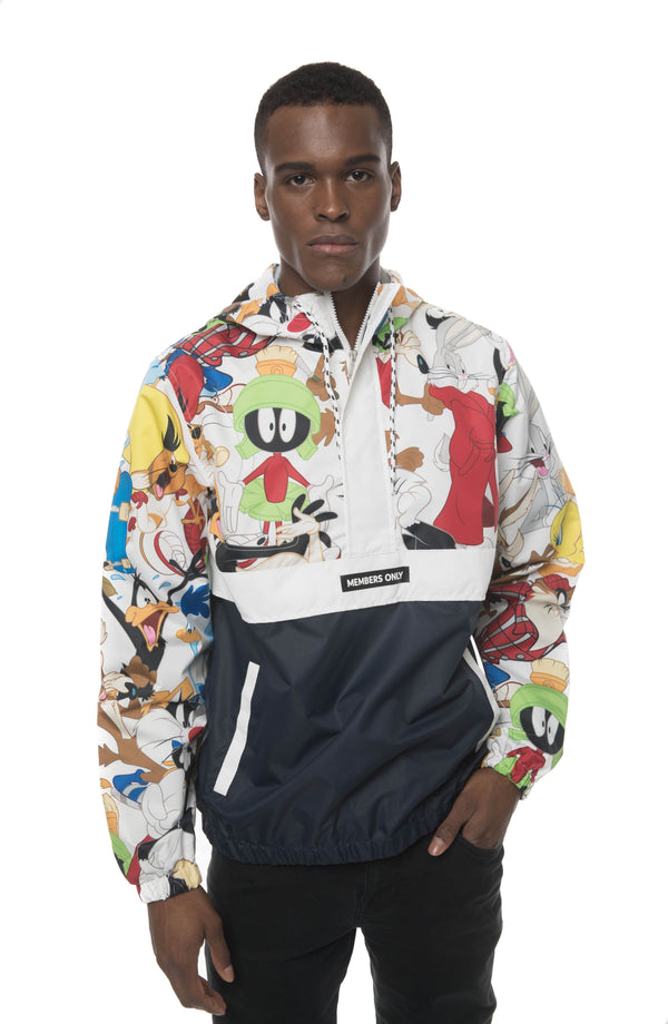 Men's Looney Tunes Collab Popover Jacket Navy
