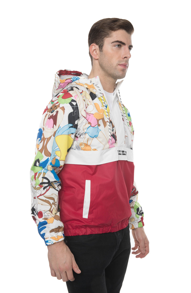 Men's Looney Tunes Collab Popover Jacket Side