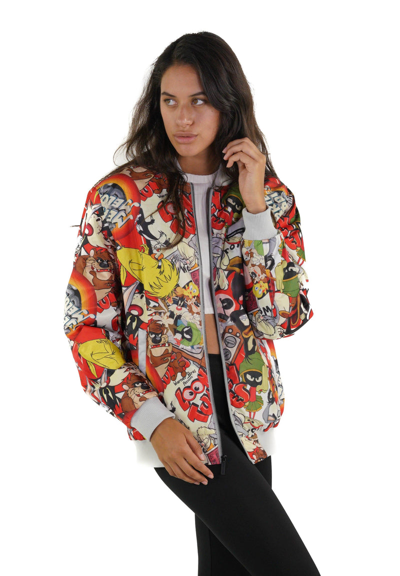 Members Only Men's Looney Tunes Vintage Mash Print Jacket for Women