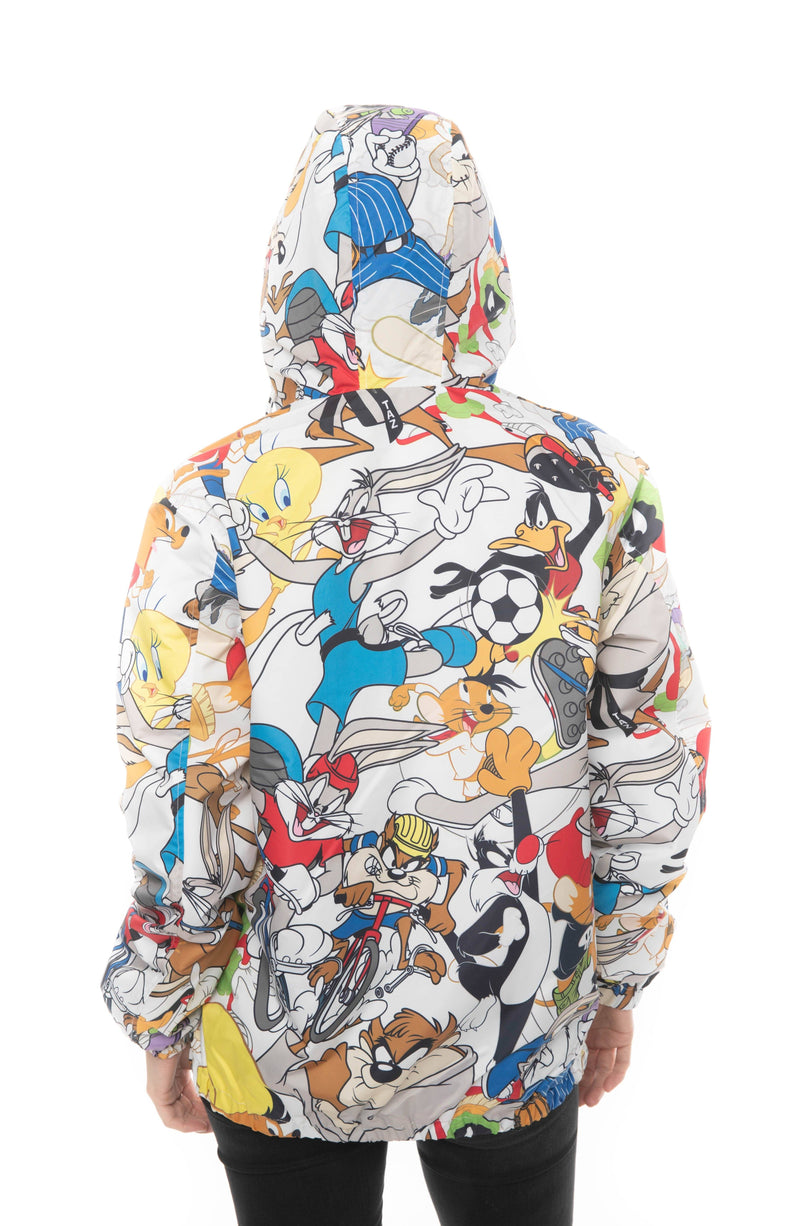 Mens Looney Tunes Collab Print Windbreaker Jacket For Women - Members Only