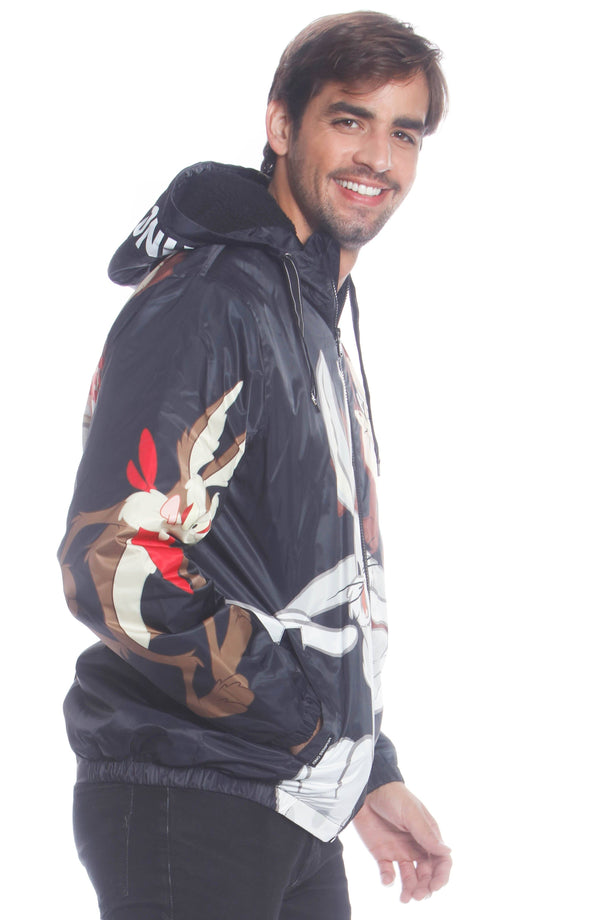 Men's Looney Tunes Bugs Placement Jacket Unisex Members Only Official