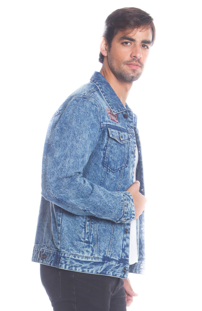 Men's Denim Looney Tunes Bugs Placement Jacket Unisex Members Only
