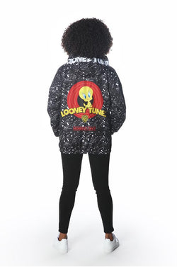 Women's Looney Tunes Full Zip Jacket jacket Members Only Official BLACK Small