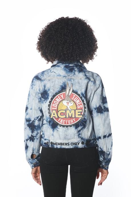 Women's Bull Denim Looney Tunes Trucker Jacket jacket Members Only Official NAVY Small