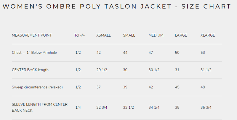 Clearance - Women's Ombre Poly Taslon Jacket