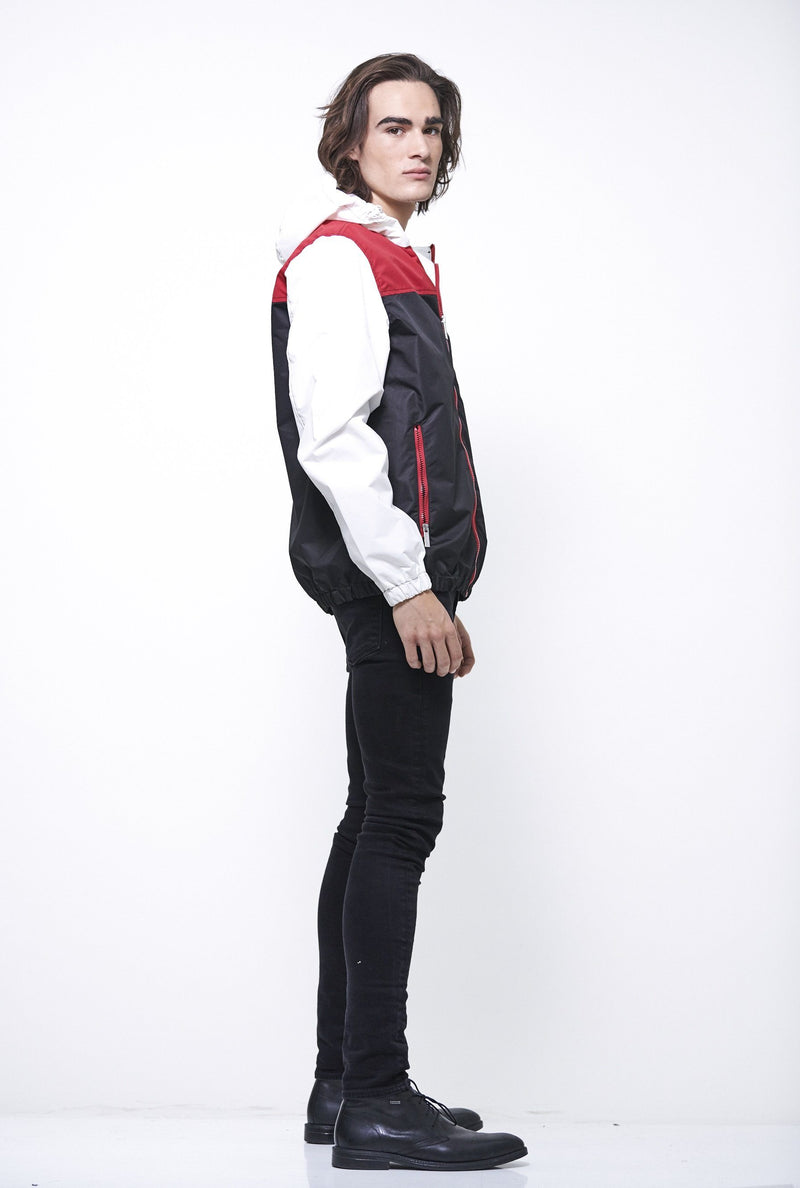 Clearance - Men's Color Block Hoodie/Zip Front Jacket