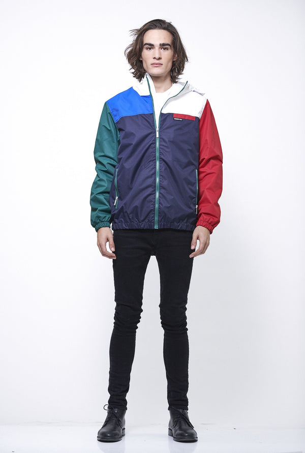 Men's Color Block Hoodie/Zip Front Jacket