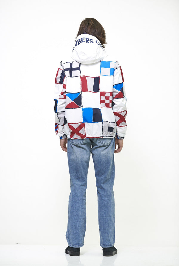 Members Only Flag Print Pullover Windbreaker Jacket