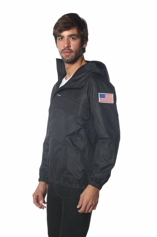 Men's Asymetrical Windbreaker Jacket jacket Members Only Official