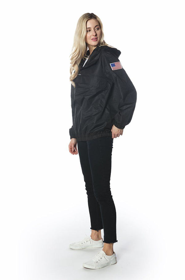 Men's Asymetrical Windbreaker Jacket for Women jacket Members Only Official