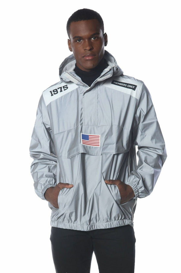 Men's Reflective Windbreaker Jacket jacket Members Only Official REFLECTIVE Small