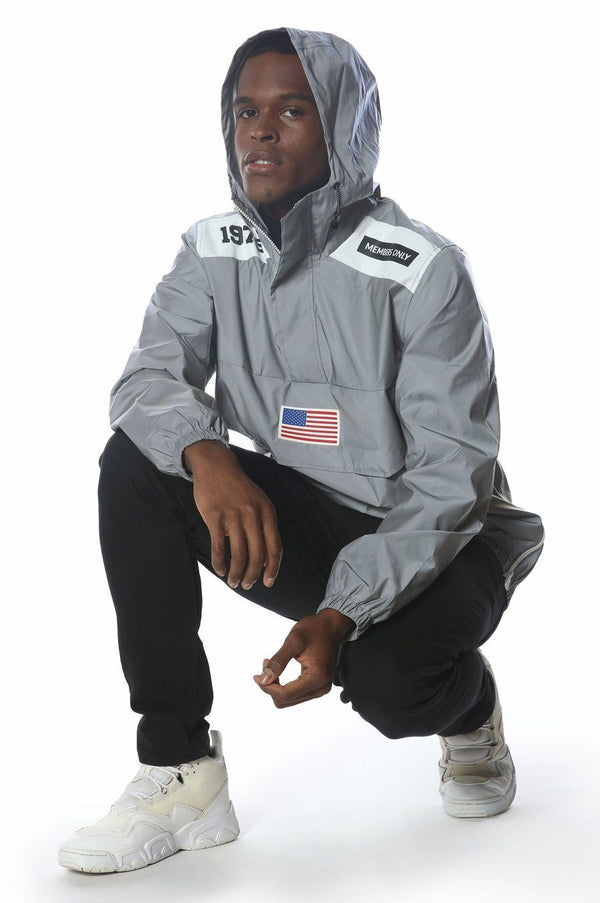 Men's Reflective Windbreaker Jacket jacket Members Only Official