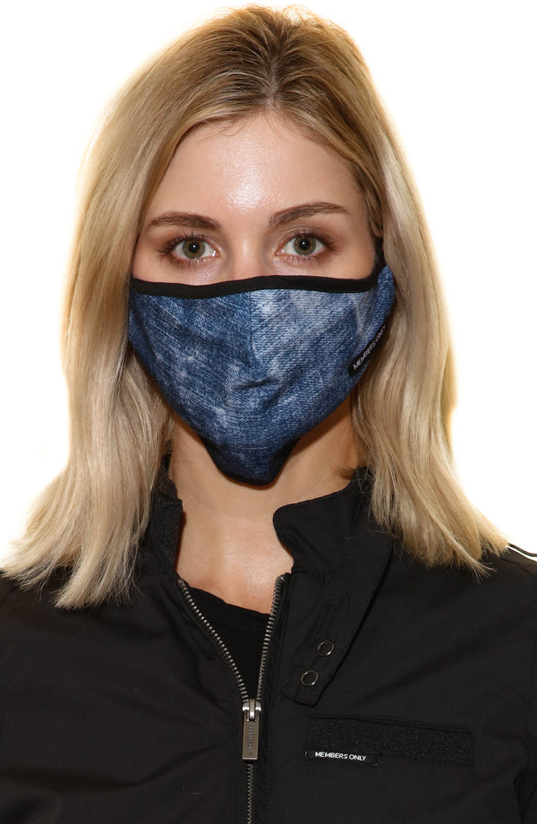 Members Only Cloth Face Masks masks Members Only® Official INDIGO ONE SIZE FITS ALL