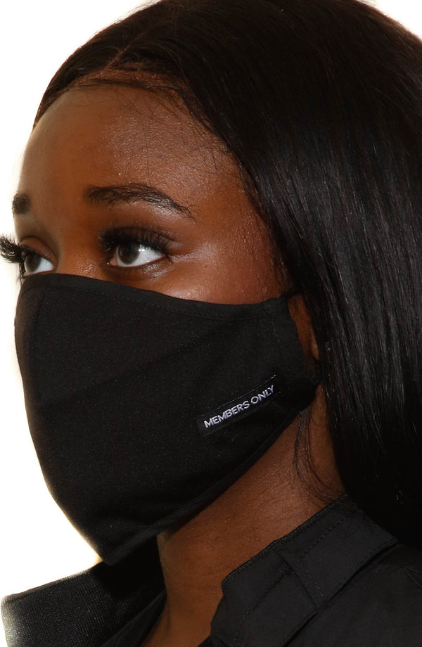 Members Only Cloth Face Masks 3 Pack - Black masks Members Only® Official