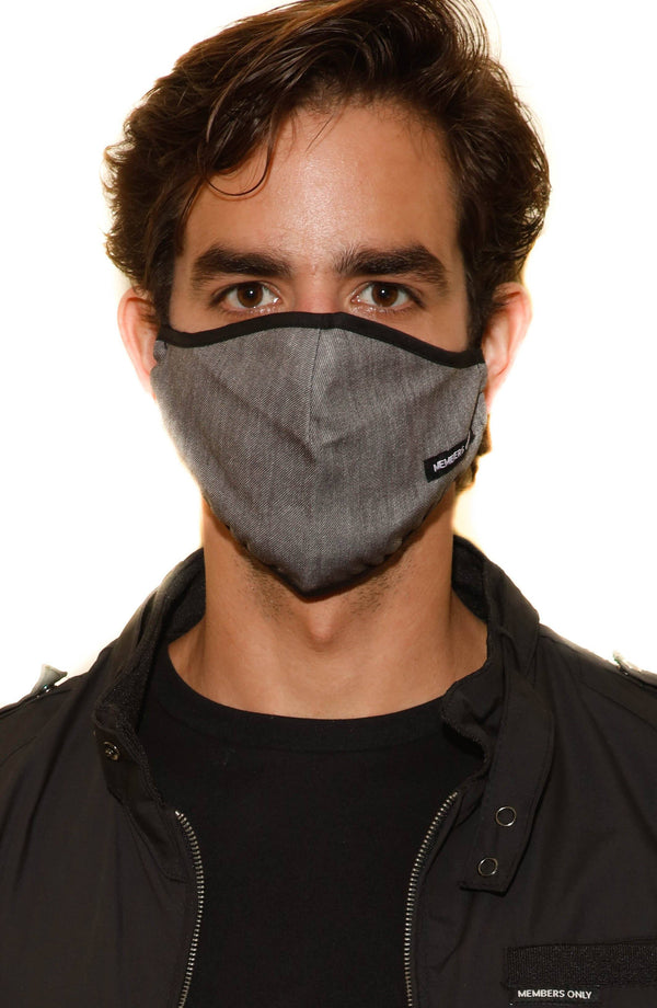 Members Only Cloth Face Masks 3pc Set - CHARCOAL Members Only® Official