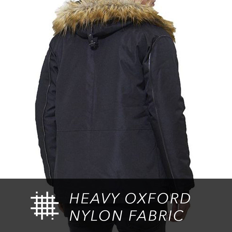 Men Oxford Snorkel Parka Jacket