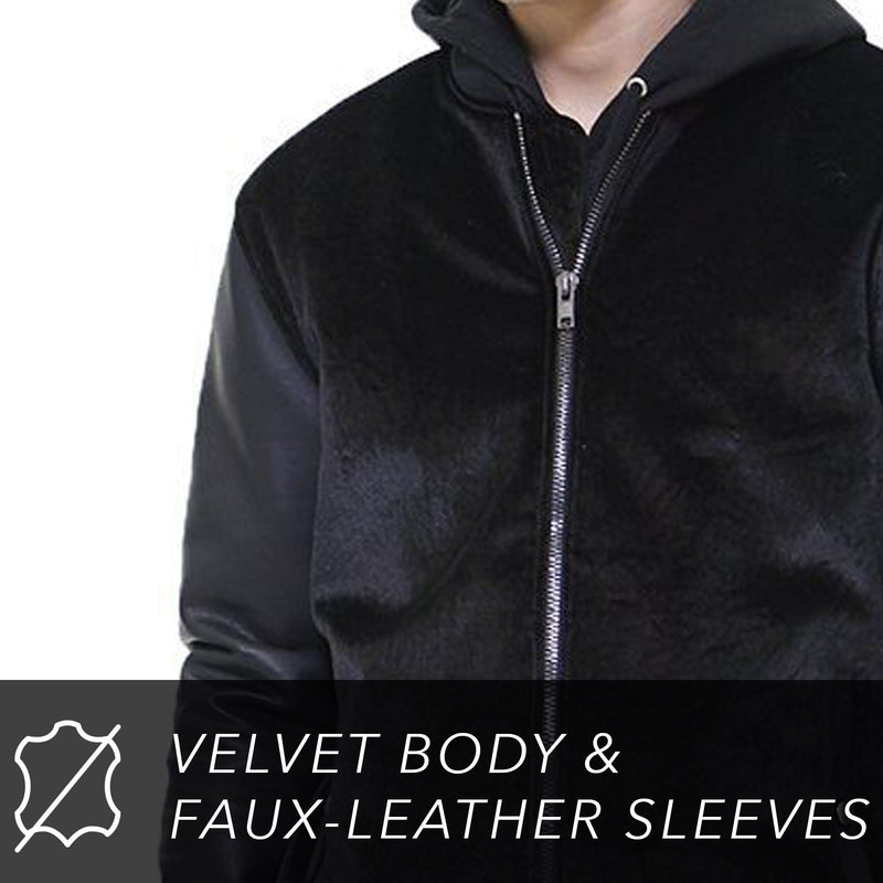 Clearance - Men's Velvet Bomber Jacket