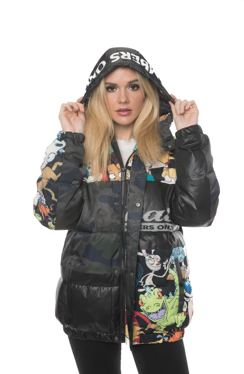 Men's Nickelodeon Camouflage Puffer Jacket for Women