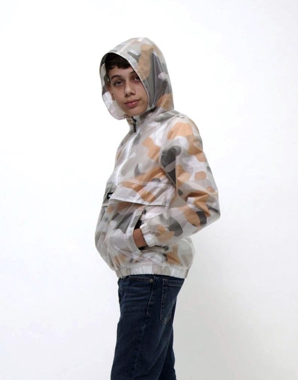 Clearance - Boy's Translucent Overlay Hoddie Jacket